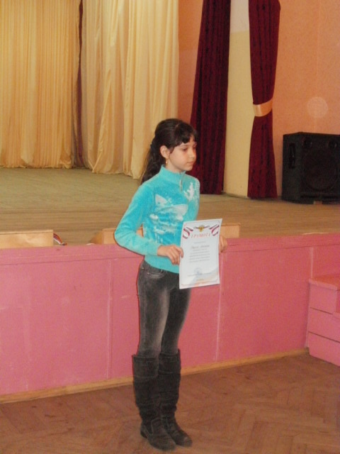 Фадина Ярославна (ДЮСШ) 1 место на девочковой доске