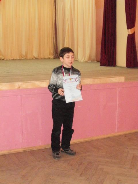 Лобжанидзе Тимур (ДЮСШ) 2 место на 3 доске