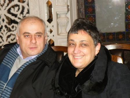 М. Чибурданидзе со своим тренером Х. Супаташвили